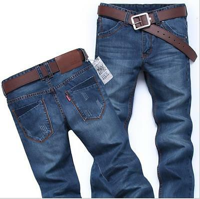 Fashion New casual Men Stylish Jeans Pants Slim Straight Trousers