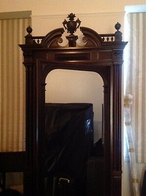 CLEARANCE NEW PRICE! Gorgeous French Walnut Armoire Wardrobe - Newly Restored!
