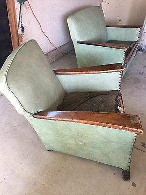 Vintage French Club Chairs & Loveseat  1930's / 1940's