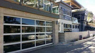 Full View Anodized Aluminum & Tempered Clear Glass Garage Door [16' x 7']