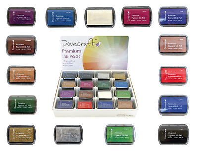 Dovecraft Premium Pigment Ink Pad - Cardmaking Stamping - Great Range of Colours