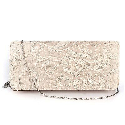 Women Purse Evening Bag Bridal Wedding Satin Prom Pouch Clutch Party Handbag