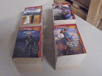 Lot Of 24 Silhouette Marry Me Cowboy Romance Paperback Novels Books