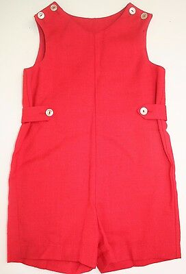 Red Classic imp Originals Saks Fifth Avenue Boy's Shortall Size 4