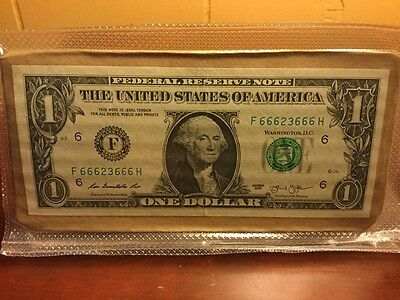 $1.00 bill with DOUBLE THE TROUBLE!!!