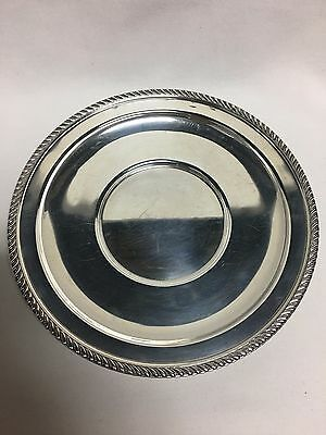"Preisner Solid Sterling Silver Serving Plate Tray 9 3/4"" No Mono"