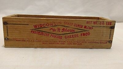 Vintage Ole N Sharpe Wisconsin Wood Cheese Box