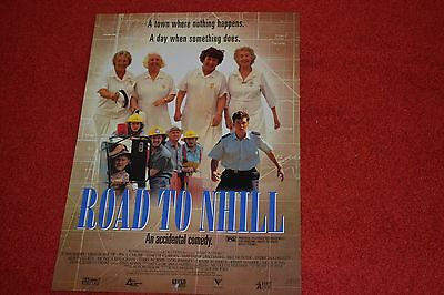 Rare 1997 Road To Nhill Movie Flyer Mini Poster