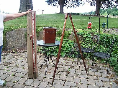 W + L  E Gurley Antique Transit and Tripod Pre 1908