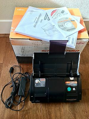 Fujitsu ScanSnap S510 Color Scanner + Power supply + Guide + CDs - EXCELLENT!