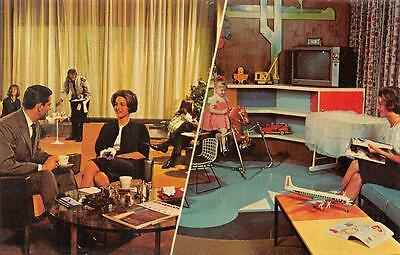EASTERN AIRLINES-FALCON LOUNGE  Multi View   PLAYROOM  Airport  Postcard
