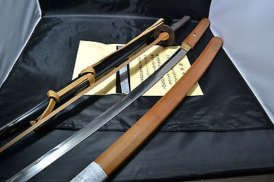 Japanese Samurai real sword Katana sharp steel blade Koshirae Masazane antique