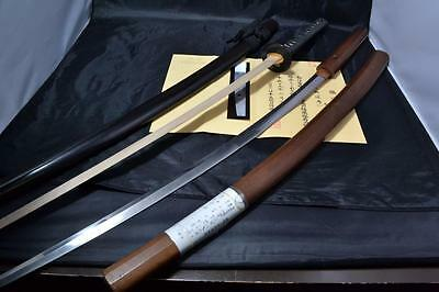 Japanese Samurai real sword Tachi sharp steel blade Koshirae maker Enju antique