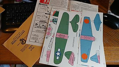 1940s General Mills Wheaties Jack Armstrong Model Airplane Kit ZERO & P-40