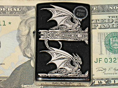 Genuine ZIPPO Windproof Flame Lighter Anne Stokes Collection Gothic Black Ice US