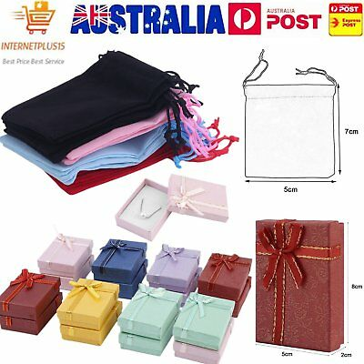20/18pc Gift Bag Jewelry Display 5x7cm Velvet Bag/Gift Box/organza Pouch I5