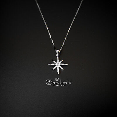 925 Sterling Silver  Necklace With Zircon Star Pendant