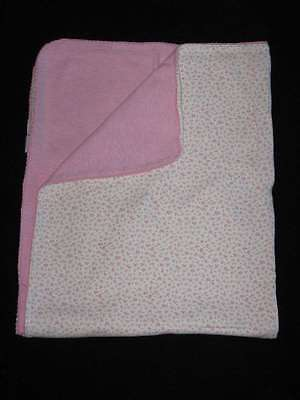 Amy Coe Baby Blanket Pink & White Floral 100% Cotton