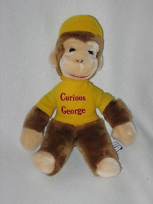 Eden Plush Curious George Monkey Stuffed Animal Doll 1984 Yellow Vintage 12""