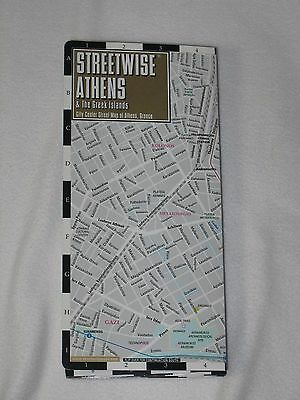 Streetwise Athens Greece Map Laminated City Center Street
