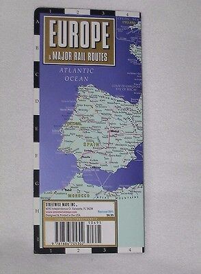 Streetwise Maps Europe Major Rail Routes Laminated Map 2015