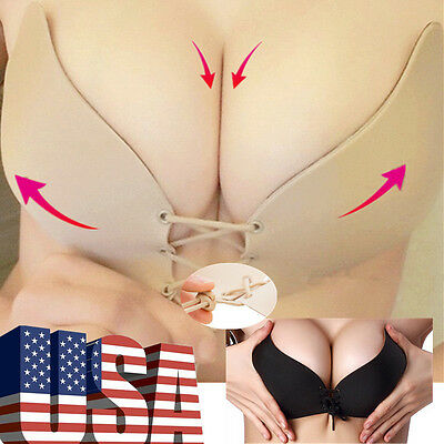 Self-Adhesive Stick Push-Up Silicone Bra Gel Strapless Invisible Backless Nubra!