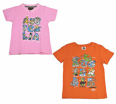 Children Australian T Shirt Souvenir/Gift 100% Cotton Animal