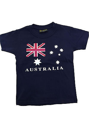 Kids girls T shirt Australia Australian Day Souvenir 100%cotton AU Flag