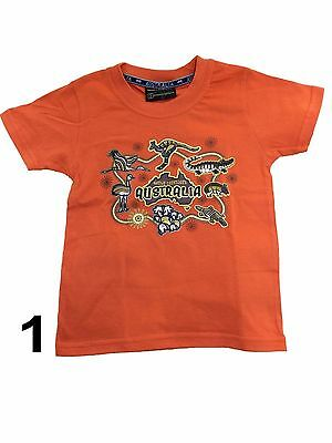 Children/child Unisex Australian T-Shirt Souvenir/Gift 100% Cotton Kangaroo