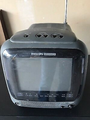 """PHILIPS MAGNAVOX AC/DC Compact Color TV 5"""" - For Parts or Repair- RD0525 C101"""