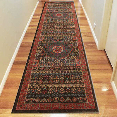 Antique Pattern Heriz Colorful Hallway Floor Runners Rug / Carpets FREE SHIPPING