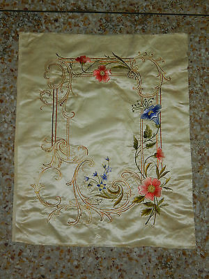 Antique Chinese Hand Embroidery Silk Wall Hanging Tapestry/Panel 61X50cm (X146)