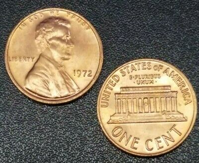 1972-P Lincoln Memorial Cent Unc -1 Coin from Lot-