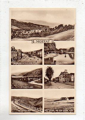"""""postcard Multiview Moffat,scotland."""""