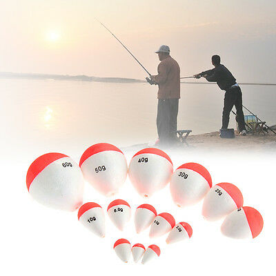 15Pcs Fishing Bobber Snap-on ABS Round Plastic Fishing Floats Combo Tackle