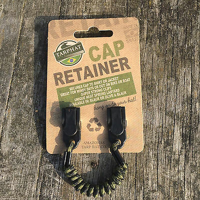 Cap Retainer Non Rust Clips - Stores on cap when not in use- Unique sprung cord