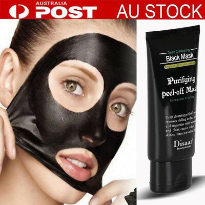 Unisex Peel Off Facial Blackhead Remover Acne Cream Bamboo Charcoal Smooth Mask#