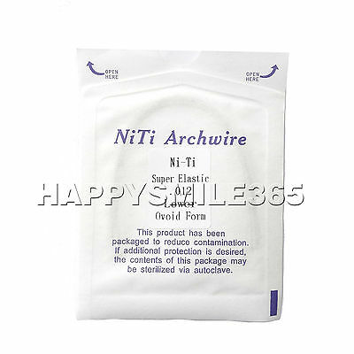 Dental Orthodontic Super Elastic Niti Archwire Ovoid Form Wire 012 lower