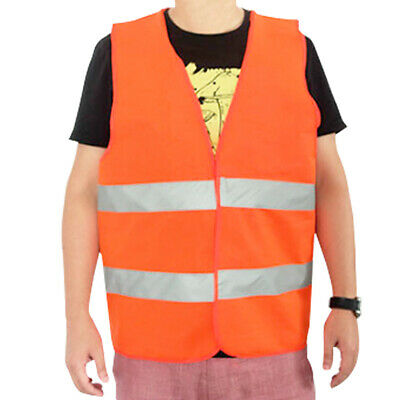 Uniforms Clothing Visibility Security Safety Vest Reflective Strips Work Wearing