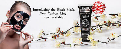 REVUELE No Problem BLACK MASK Deep Faciel Peel off Mask with Activated Carbon