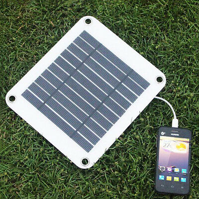5V 5W Portable Solar Panel Multi-Purpose Solor Battery Charger for HTC iPhone