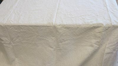 Antique Pure Linen Tablecloth/Bedspread Embroidered Pattern 210x190