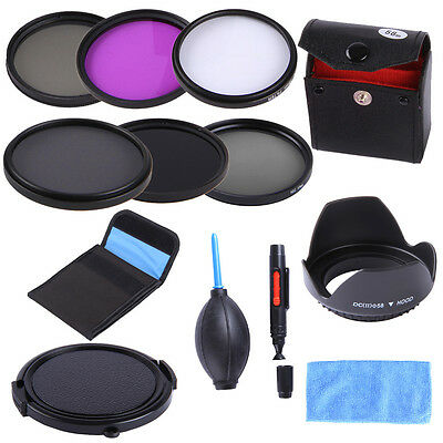 58mm Filter UV CPL FLD ND 2 4 8 for Canon EOS 760D 750D 700D 650D 600D 18-55mm