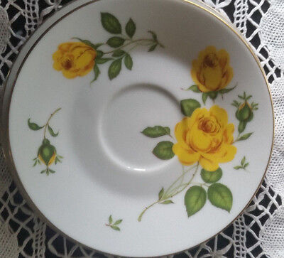 Vintage Retro NORITAKE Yellow Roses - Saucer and side plate