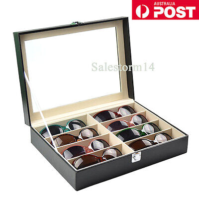 NEWv8 Grids Sunglasses Eyeglasses Glasses Display Box Case Storage Organizer AU