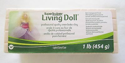 SUPER SCULPEY - LIVING DOLL - Polymer Clay - 454g - LIGHT