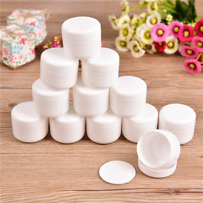 30/60x Empty Jar Pot Makeup Sample Cream Lotion Cosmetic Container Inner Lid N