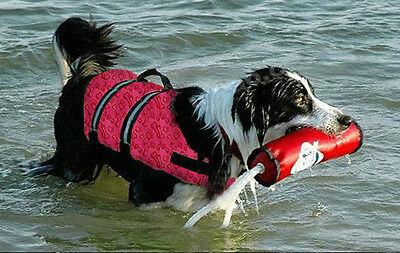New Dog Life Jacket Swimming Float Vest Reflective Adjustable Buoyancy Aid