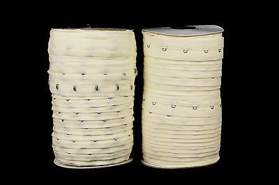 25mm Cream Cotton Hook and Eye Tape - 50 metres