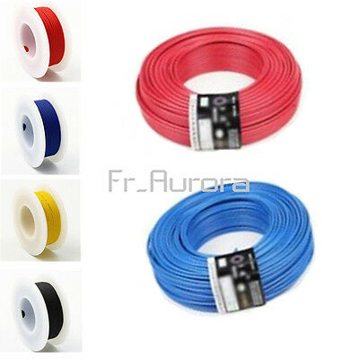 10M Flexible Stranded of UL-1007 24 AWG wire cable Yellow/Blue/Red/Black 300V